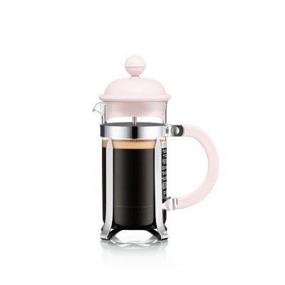 coffee plunger 350ml in pink, perfect for french press brewing