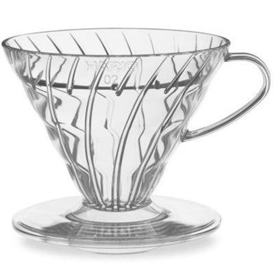 Hario V60 Dripper – 2 Cup in Clear Plastic