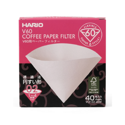 hario v60 paper filter 02 with 40 pieces in the pack