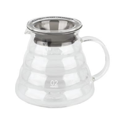 hario v60 range server in clear glass for 600ml