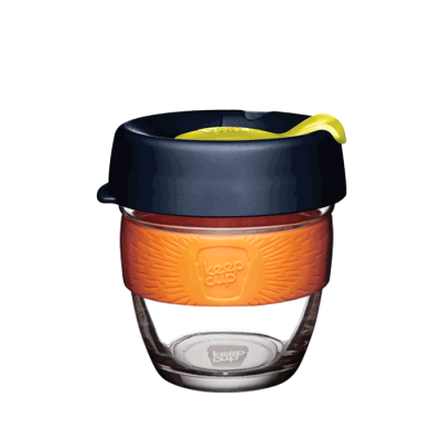 KeepCup Brew glass coffee cup for enjoying coffee on the go