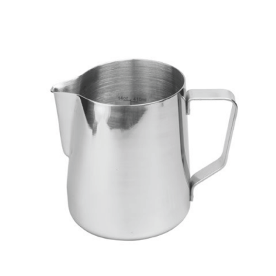 milk frothing jug from Rhino Pro, 600ml, 20oz, perfect for 2 cups