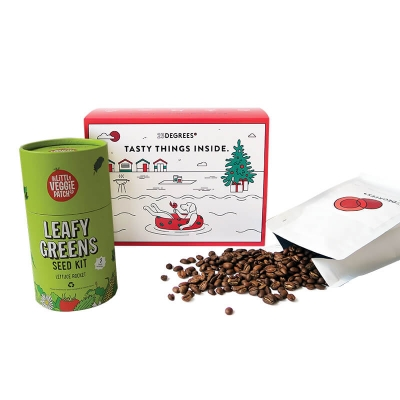 sustainable gift for garden and coffee lovers to grow your own food at home
